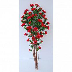 Umělá kvetoucí Azalka v květináči červená, 120 cm