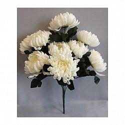 Umělá kytice Chryzantéma, bílá