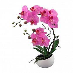 Umělá Orchidej v květináči růžová, 42 cm 115812-80