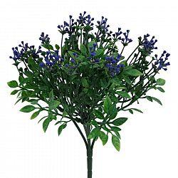 Umělý keřík Brslen, modrá
