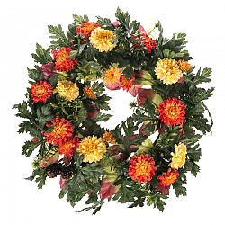 Umělý věnec Chryzantémy, pr. 30 cm