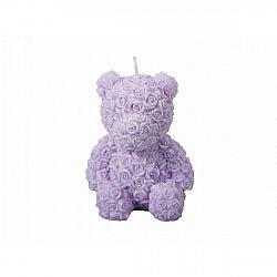 Valentýnská svíčka Medvídek, fialová