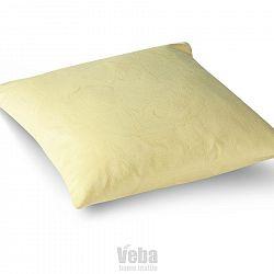 Veba Damaškový povlak na polštářek GEON Vlčí máky žlutá, 40 x 40 cm