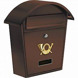 Vorel Poštovní schránka s oblou stříškou hnědá