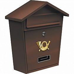 Vorel Poštovní schránka se stříškou hnědá ,38 x 32 x 10,5 cm