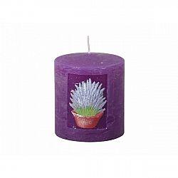 Vyřezávaná svíčka Levandule, válec