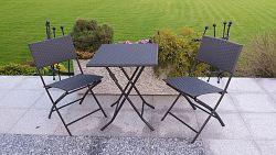 Zahradní balkónový skládací set Ema