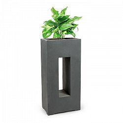 Blumfeldt Airflor, květináč, 45 x 100 x 27 cm, sklolaminát, do interiéru i exteriéru, tmavě šedý