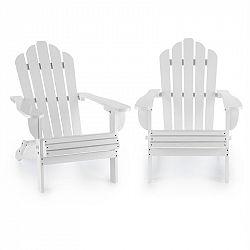 Blumfeldt Vermont, set zahradních židlí, 2 ks, adirondack, 73 x 88 x 94 cm, sklopitelné, bílé