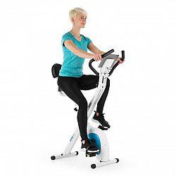Capital Sports Azura Air, domácí cyklotrenažér, ergometr, měření tepu, sklopný, bílo/modrý