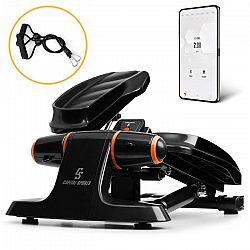 Capital Sports Galaxy Step, mini stepper, prémiové stoupací plochy, LCD displej, aplikace, oranžový