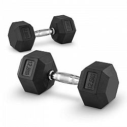 Capital Sports Hexbell 12,5 kg, dvojice jednoruční činek (Dumbbell)