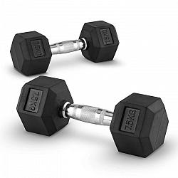 Capital Sports Hexbell 7,5 kg, dvojice jednoruční činek (Dumbbell)