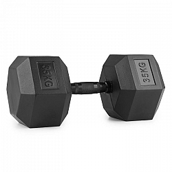 Capital Sports Hexbell Dumbbell jednoruční činka, 35kg