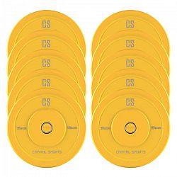Capital Sports Nipton Bumper Plates, žluté, 5 párů, 15 kg, tvrdá guma