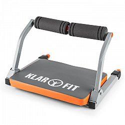 KLARFIT Abhatch, šedá/oranžová, AB core trenažér, posilovač břišních svalů, všestranné posilovací zařízení