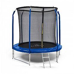 KLARFIT Jumpstarter, trampolína, 2,5 m Ø, síť, 120 kg max., tmavomodrá
