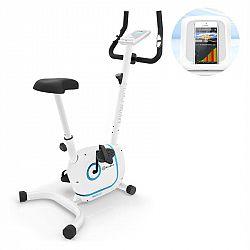 KLARFIT Myon Cycle, domácí trenažér, 12 kg setrvačník, SmartCardio Studio, bílý