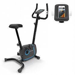 KLARFIT Myon Cycle, domácí trenažér, 12 kg setrvačník, SmartCardio Studio, černý
