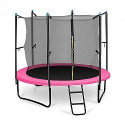 KLARFIT Rocketgirl 250, 250cm trampolína, vnitřní bezpečnostní síť, široký žebřík, růžová