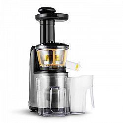 Klarstein Fruitpresso Nero II, pomalý odšťavňovač, 80 ot./min., 150 W, nerez