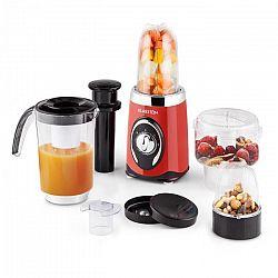 Klarstein Fruizooka, červený mixér na přípravu smoothie, multifunkční zařízení 4 v 1, 220 W
