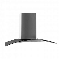 Klarstein GL90WSB komínový odsavač par, 90 cm, 385 m3/h, nerezová ocel