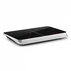 Klarstein InnoChef, indukční varná deska, 3400 W, dotykové ovládání, sklokeramika, stříbrná