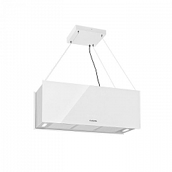 Klarstein Kronleuchter XL, ostrůvkový odsavač par, 90 cm, cirkulace, 590 m³/h, LED, dotykový displej, bílý
