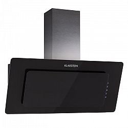 Klarstein Lore, černý, 90 cm, 280 m3/h, odsavač par, volný prostor pro hlavu, dotykový, sklo