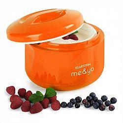 Klarstein Me & Yo, 1 litr, jogurtovač bez proudu, oranžový
