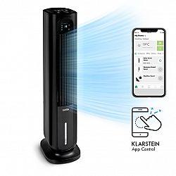 Klarstein Polar Tower Smart, ventilátor, ochlazovač vzduchu, 7 l, 85 W, dálkové ovládání, 5x chladicí boxy