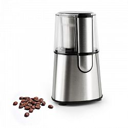 Klarstein Speedpresso, stříbrný, mlýnek na kávu, 200 W, 65 g, tříštivý mlecí mechanismus, ušlechtilá ocel