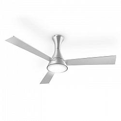 Klarstein Steletto, 55 W, stropní ventilátor se svítidlem, 134 cm, hliník, dálkové ovládání