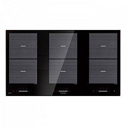 Klarstein Virtuosa Flex 90, indukční varná deska, 6 zón, 10800 W, ceran, vestavěná, černá