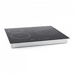 Klarstein Virtuoso, 5300 W, 59 x 52 cm, keramická varná deska, varná deska pro zabudování, 3 zóny, sklokeramika