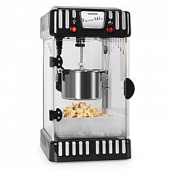 Klarstein Volcano černý, stroj na popcorn 300 W, míchadlo, nádoba z nerezu