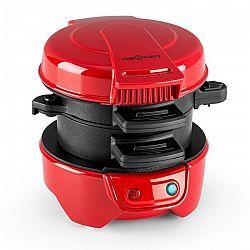OneConcept Morning Glory, červený, 600 W, příprava toastů a masa do hamburgerů, nepřilnavý