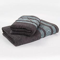 Bambusový ručník Tara - šedý 50x90 cm, 440 g/m2 Ručník