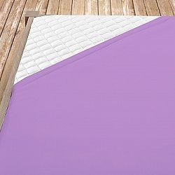 Flanelové prostěradlo fialové 100x200 cm jednolůžko - standard Flanel