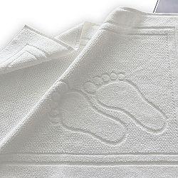 Koupelnová předložka Feet bílá 50x70 cm bavlna