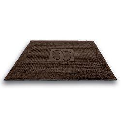Koupelnová předložka Stopa hnědá 50x70 cm, 650 g/m2 bavlna