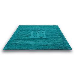 Koupelnová předložka Stopa tyrkysová 50x70 cm, 650 g/m2 bavlna