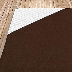 Napínací froté prostěradlo hnědé Jednolůžko, 140x200 cm Froté