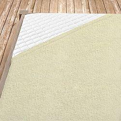 Napínací froté prostěradlo krémové Jednolůžko, 140x200 cm Froté