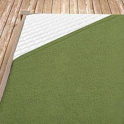 Napínací froté prostěradlo olivové Jednolůžko - standard, 100x200 cm Froté