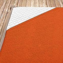 Napínací froté prostěradlo oranžové Jednolůžko - standard, 100x200 cm Froté