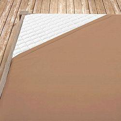 Napínací jersey prostěradlo středně hnědé 160x200 cm dvojlůžko Jersey