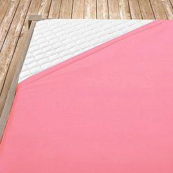 Napínací jersey prostěradlo světle růžové 180x200 cm dvojlůžko - standard Jersey