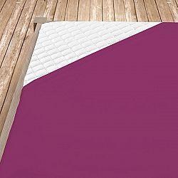 Napínací jersey prostěradlo tmavě fialové 140x200 cm jednolůžko Jersey
